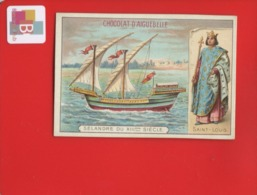 AIGUEBELLE  Chromo  Saint Louis Navire  Selandre Palestine Sultan Egypte Damiette   Texte Au Dos - Aiguebelle