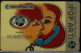 UNITED KINDOM 1996 PHONECARD MECURY CARD POP ART USED VF!! - Música
