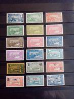 GUADELOUPE.1922 à 1927. N° 77 à 95 .16 Neufs+ 2 Oblitérés. Côte Yvert 15,70 € - Guadalupe (1884-1947)