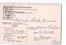 14024  KRIEGSGEFANGENENPOST POSTKARTE   ITALIAN POW PRISONER OF WAR STALAG To MARANO VICENTINO - Germany