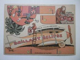 """Publicité Marque """"ECLIPSE"""" Sujets AVION à Découper Et à Plier - Découpage, Pliage - Illustrateur Signé Edouard Bernard - Publicités"""