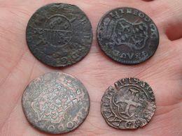A IDENTIFICIER / IDENTIFY Please ( 5 Pièces > Voir Photo / Scans Pour Détail SVP > Zie Foto's )! - Monnaies Antiques