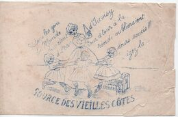 Buvard Ancien/Eaux De Table/Source Des Vieilles Côtes/JUVISY/Si Tous Les Gens Du Monde Buvaient/Vers 1930-1950    BUV457 - Carte Assorbenti