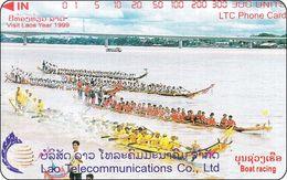 Laos Phonecard Tamura  Boat Racing, Vientiane - One Punch - Laos