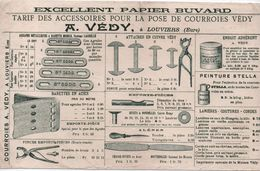 Buvard Ancien/Courroies/ Accessoires Pour Pose/VEDY/ LOUVIERS / Eure/Vers 1900-1920    BUV458 - Blotters