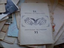 SCHWEIZ - CHOCOLADE DU CREMIER No. I CHOCOLATE COVER - Cc 1900 - Chocolat