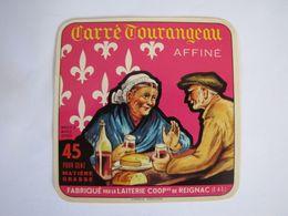 Etiquette De Fromage CARRE TOURANGEAU Affiné 45% - Fromage