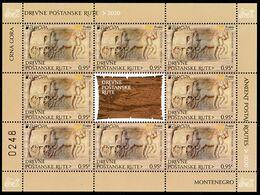 """MONTENEGRO/Crna Gora EUROPA 2020 """"Ancient Postal Routes"""" Sheetlet** - 2020"""