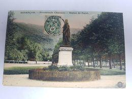 CPA Besançon 25, Promenade Chamars, Statue De Pajol, 1907 - Besancon