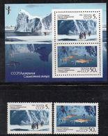 NA0 - RUSSIA URSS 1990 , Unificato N. 5774/5775  ***  MNH  Antartico - Nuovi