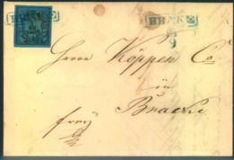1852, Ortsbrief Mit Inhalt In BRAKE 1/30 Th, Type III - Oldenbourg