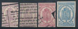 "DP-347: FRANCE: Lot  Avec ""Journaux"" N°1 Obl (3)-2* (rouille, Signé) - Newspapers"