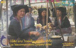 Laos Phonecard Tamura  Native Silk Spinning - One Punch - Laos