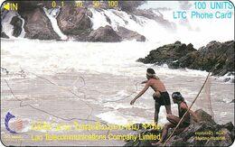 Laos Phonecard Tamura  Khone Phapheng Waterfall - One Punch - Laos