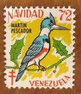 1972 Uccelli Bird Martin Pescador VENEZUELA Navidad  Campagna ANTI TBC Cindarella Vignetta Erinnofilo - Nuovo - Vögel