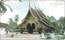 Laos Phonecard Tamura  Vat Xieng Thong Temple - One Punch - Laos