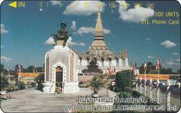 Laos Phonecard Tamura  Pha That Luang Stupa - One Punch - Laos
