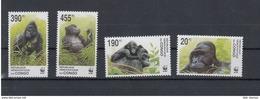 Kongo Republik Michel Cat.No.  Mnh/** 1708/1711 Wwf Gorilla - Democratische Republiek Congo (1964-71)