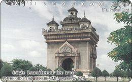 Laos Phonecard Tamura  Vientiane - Patuxai Arch - One Punch - Laos