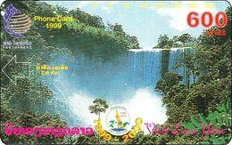 Laos Phonecard Tamura - Waterfalls - One Punch - Laos