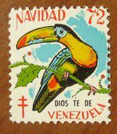 1972 Uccelli Bird Dios Te De VENEZUELA Navidad  Campagna ANTI TBC Cindarella Vignetta Erinnofilo - Nuovo - Birds