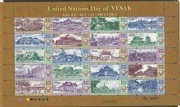 SRI  LANKA, 2017, MNH, VESAK , BUDDHISM, UNITED NATIONAL DAY OF VESAK, TEMPLES, ANCIENT RUINS, SHEETLET OF 20v - Buddhismus