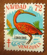 1972 Uccelli Bird Corocoro VENEZUELA Navidad  Campagna ANTI TBC Cindarella Vignetta Erinnofilo - Nuovo - Birds