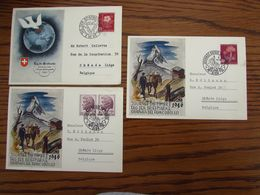 SUISSE : 3 Cartes Postal 1945 - 1946 - Switzerland
