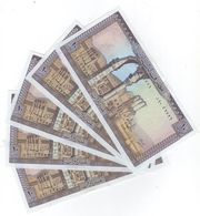 10 LP 1986 5 Consecutive Banknotes UNC Lebanon Currency , Paper Money, Billets Liban - Liban