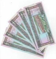 500 LP 1988 5 Banknotes Consecutive UNC Lebanon Currency , Paper Money, Billets Liban - Liban