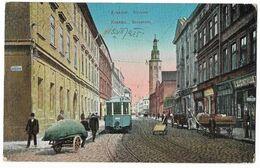 Poland 1915 Krakow Street With Tramway - Poland