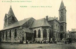 Fleurus * Place , Hôtel De Ville Et église * Hainaut Belgique - Fleurus