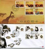 South Africa Südafrika Offizieller/official FDC # 7.111+12  - Fauna Animal Tracks - FDC