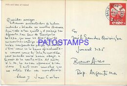138288 IRELAND BAILE ATHA CLIATH VIEW PARTIAL CIRCULATED TO ARGENTINA POSTAL STATIONERY POSTCARD - Interi Postali