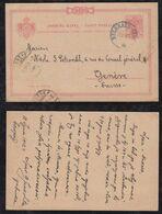 Serbia 1902 Postcard Stationery 10Pa Alexander To GENEVE Switzerland - Serbia