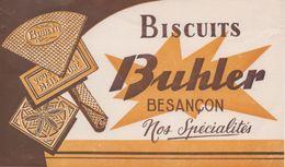 Buvard Biscuits Buhler Besançon - Nos Spécialités ( Biscuit Gâteau Gaufre Gaufrette ) - Blotters