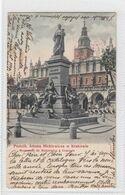 Krakow. Pomnik Adama Mickiewicza. - Poland