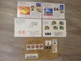 China 5 Briefe Karten Briefmarken Jahr 1999, 2000 Beijing, Shanghai - Sobres