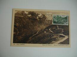 1945 Route Col Iseran C M Cm Carte Maximum - Maximum Cards
