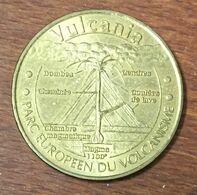 63 VULCANIA PARC EUROPÉEN DU VOLCANISME MÉDAILLE MONNAIE DE PARIS 2007 JETON TOURISTIQUE MEDALS COINS TOKENS - Monnaie De Paris