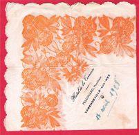Serviette Publicitaire En Papier Décoré Pour L'Hôtel De La Terrasse à Varengeville Sur Mer Pellouard Prop. Datée 1928 - Werbeservietten