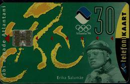 ESTONIA 1996 PHONECARD SUMMER OLYMPICS GAMES ATLANTA 96 USED VF!! - Olympic Games