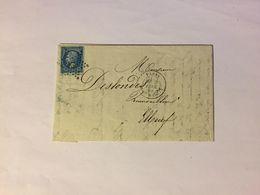 Lettre Affranchie à 20c En étoile De Paris N°5 Sur N°22 - 1849-1876: Période Classique