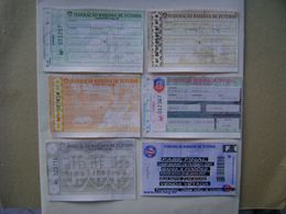 BRAZIL / BRASIL - 6 TICKETS BAHIA FOOTBALL - SOCCER YEARS 2005 / 2007 IN THE STATE - Tickets D'entrée