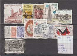 België 1978 - 9 Sets Gest./obl./used - Usati