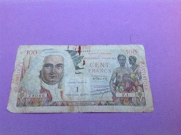 Billet 100 - Cent Francs Départements D'outre-mer - Guadeloupe, Guyane , Martinique - Contre- Valeur De 1 Nouveau Franc. - 1959-1966 ''Nouveaux Francs''