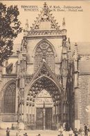 AK Tongeren - L.V.Kerk - Zuiderportaal - Bahnpost Lüttich-Antwerpen 1915 (51291) - Tongeren