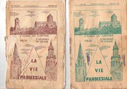 Lot De 2 Bulletins Paroissiaux, 1974, Saint AUBIN Du CORMIER, MECE, Saint GEORGES De CHESNE, (35) 14 Pages,état Méciocre - Bretagne