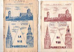 Lot De 2 Bulletins Paroissiaux, 1970, Saint AUBIN Du CORMIER, MECE, Saint GEORGES De CHESNE, (35) 14 Pages,état Méciocre - Bretagne