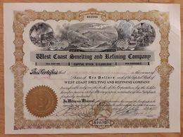 West Coast Smelting And Refining Company - Arizona - 1910 - Mines